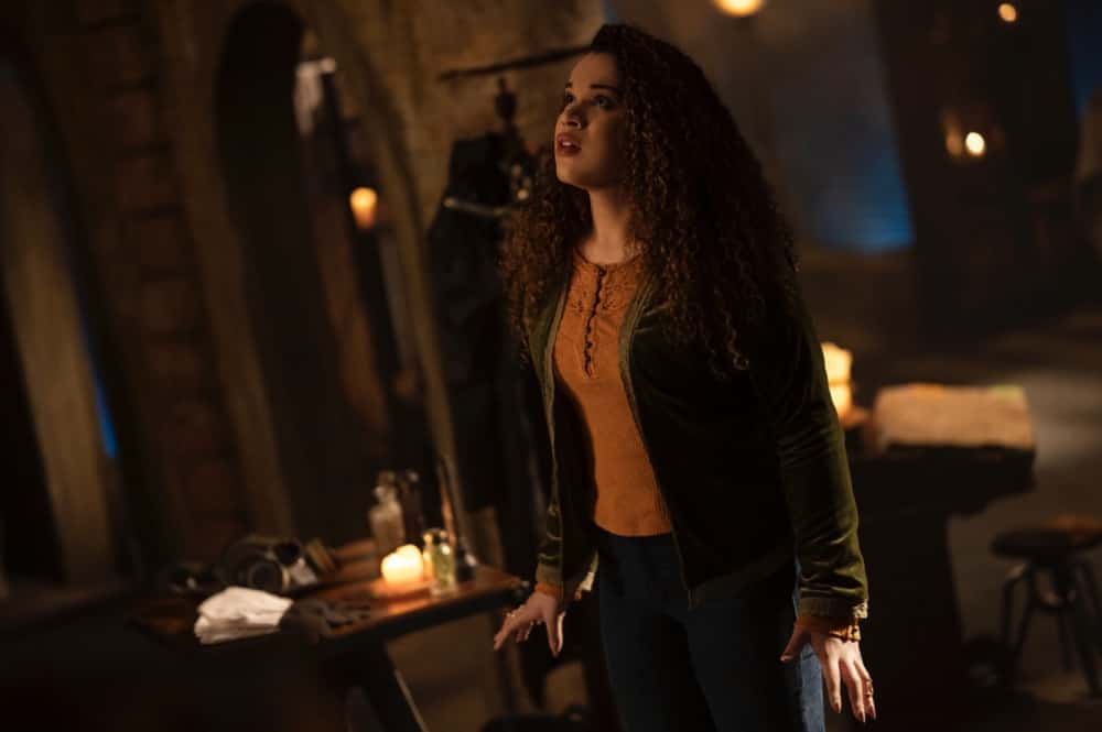 "Charmed -- ""Bruja-ha"" -- Image Number: CMD310a_0123r -- Pictured: Mareya Salazar as Josefina -- Photo: Kailey Schwerman/The CW -- © 2021 The CW Network, LLC. All Rights Reserved."