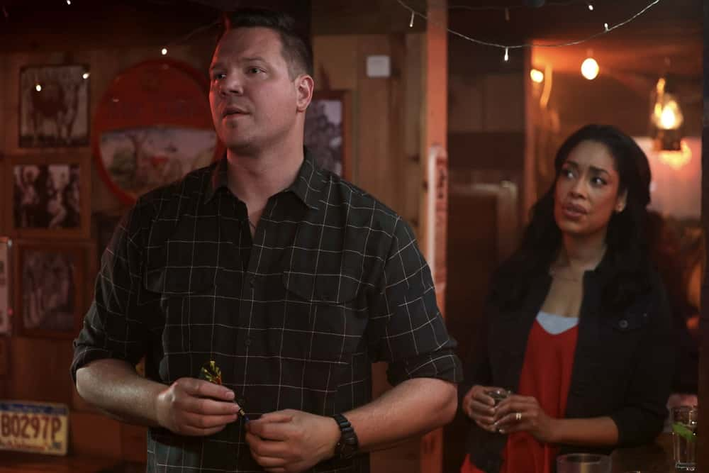 "9-1-1 LONE STAR Season 2 Episode 9 : L-R: Jim Parrack and Gina Torres in the ""Saving Grace"" episode of 9-1-1: LONE STAR airing Monday, April 19 (9:01-10:00 PM ET/PT) on FOX. © 2021 Fox Media LLC. CR: Jordin Althaus/FOX."
