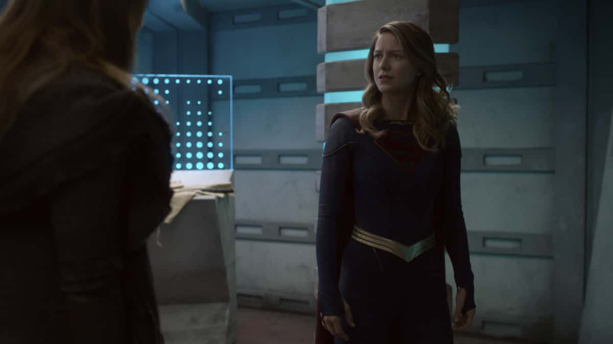 "Supergirl Season 6 Episode 4 -- ""Lost Souls"" -- Image Number: SPG604fg_0015r.jpg -- Pictured: Melissa Benoist as Supergirl.  Photo: The CW -- © 2021 The CW Network, LLC. All Rights Reserved."