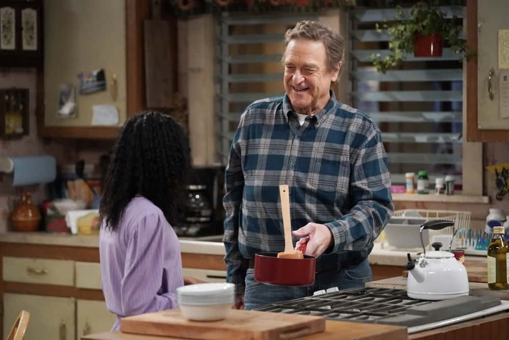 """THE CONNERS Season 3 Episode 18 - """"Cheating, Revelations and A Box of Doll Heads"""" – Mark is stressed and exhausted from studying for an important entrance exam so Darlene steps in to help, but her plan backfires, on an all-new episode of """"The Conners,"""" airing WEDNESDAY, APRIL 21 (9:00-9:30p.m. EDT), on ABC. (ABC/Eric McCandless) JOHN GOODMAN"""