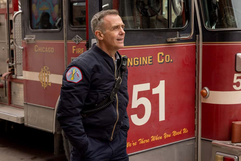 """CHICAGO FIRE Season 9 Episode 12 -- """"Natural Born Firefighter"""" Episode 912 -- Pictured: David Eigenberg as Christopher Herrmann -- (Photo by: Adrian S. Burrows Sr./NBC)"""