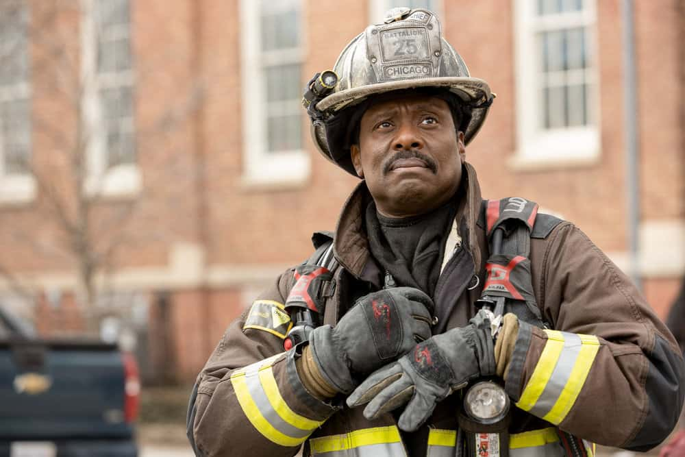 """CHICAGO FIRE Season 9 Episode 12 -- """"Natural Born Firefighter"""" Episode 912 -- Pictured: Eamonn Walker as Wallace Boden -- (Photo by: Adrian S. Burrows Sr./NBC)"""
