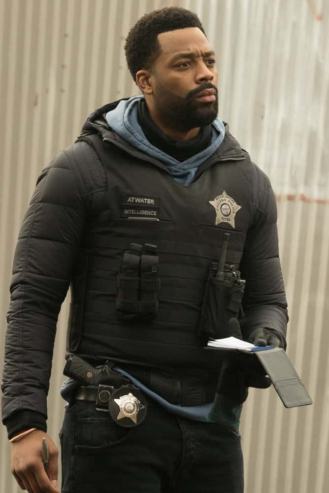 "CHICAGO PD Season 8 Episode 12 -- ""Due Process"" Episode 812 -- Pictured: LaRoyce Hawkins as Kevin Atwater -- (Photo by: Lori Allen/NBC)"