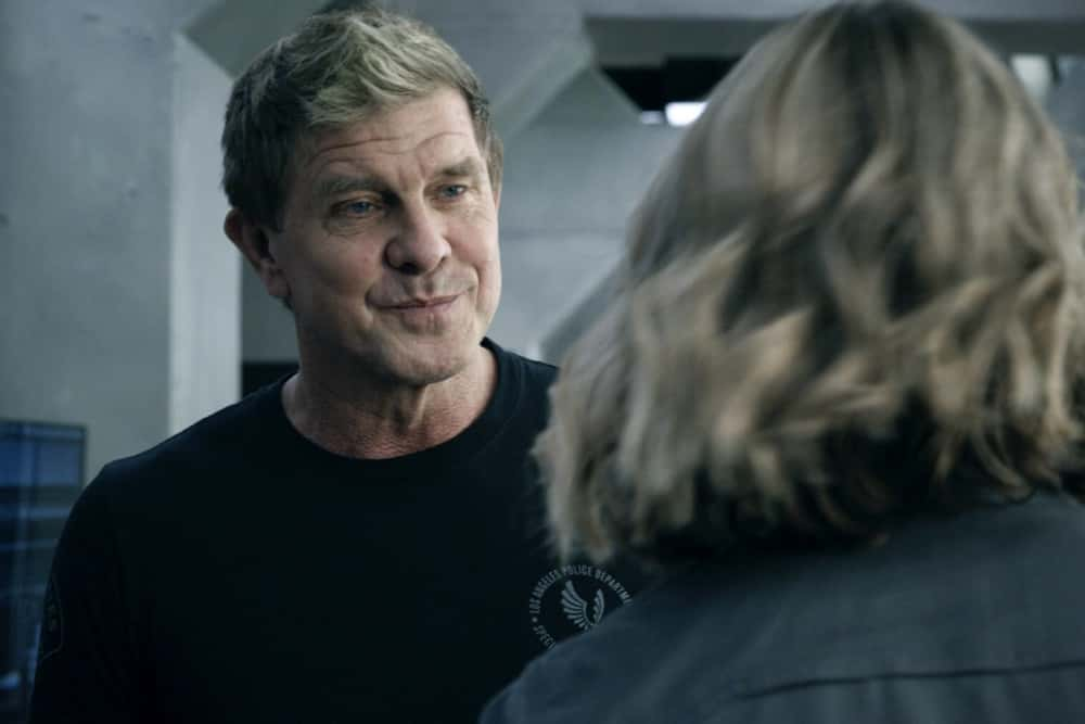 """SWAT Season 4 Episode 14 """"Reckoning"""" – As the team works to stop a violent attack on the city, they're forced to confront the group responsible for the death of team member, Erika Rogers. Also, Hondo and Leroy disagree on how to handle a challenge to Darryl's fledgling business, and Luca tries to recruit new TEMS officer Nora Fowler for an annual inter-squad competition, on S.W.A.T., Wednesday, April 21 (10:00-11:00 PM, ET/PT) on the CBS Television Network. Pictured (L-R): Kenneth """"Kenny"""" Johnson as Dominique Luca.   Photo: Screengrab/CBS ©2021 CBS Broadcasting, Inc. All Rights Reserved"""