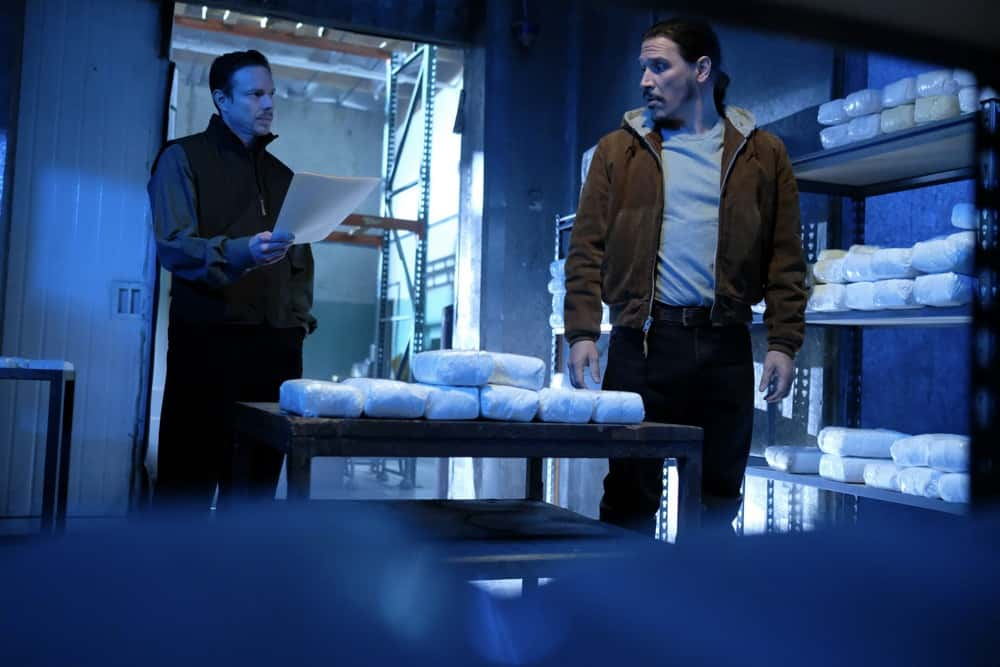 "Snowfall Season 4 Episode 10 ""Fight or Flight"" -- Season 4, Episode 10 (Airs Wednesday, April 21) -- Pictured:  (l-r) Matthew Alan as Havemeyer, Sergio Peris-Mencheta as Gustavo Zapata. CR: Ray Mickshaw/FX"