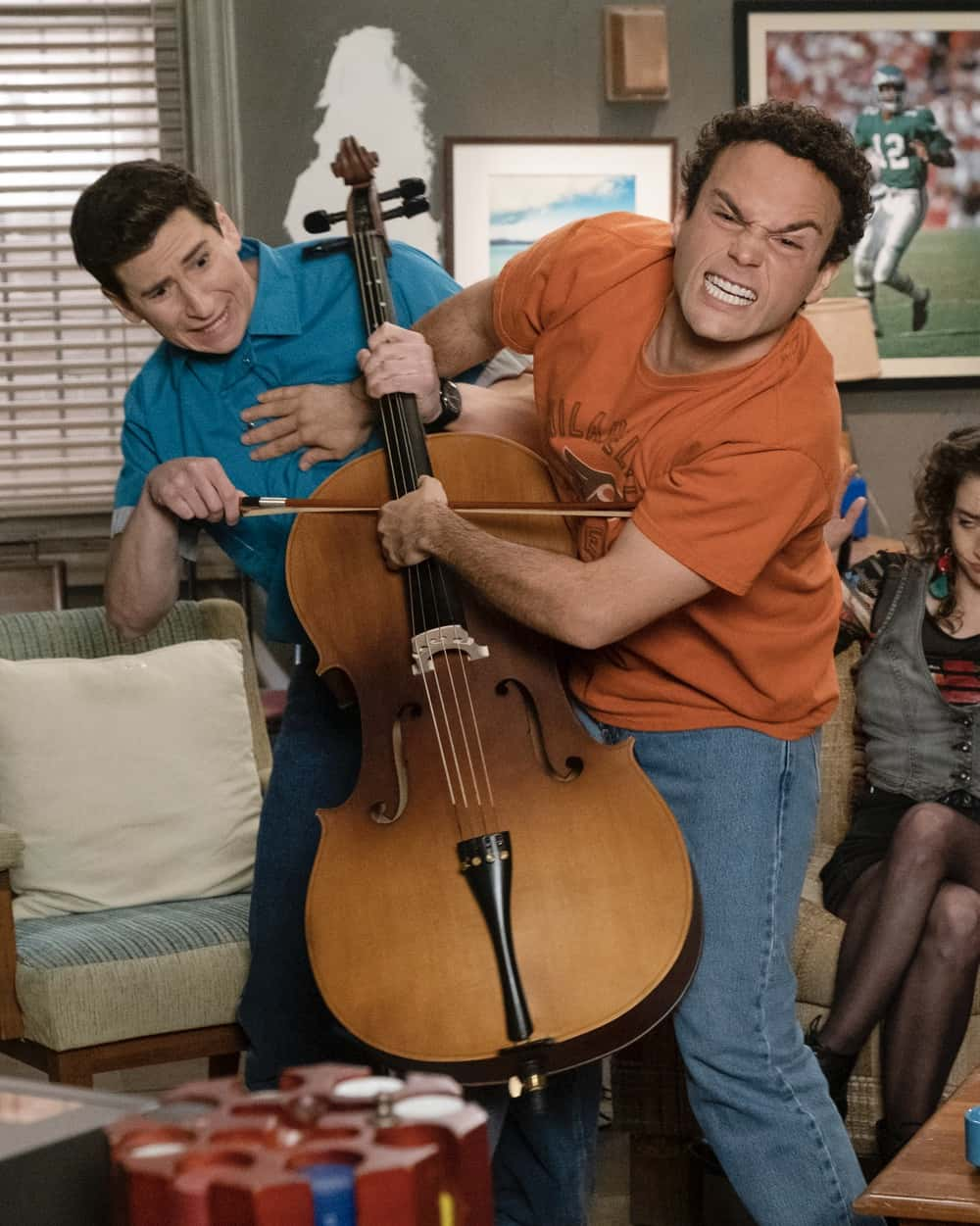 """THE GOLDBERGS Season 8 Episode 18 - """"The Dating Game"""" – Trying to move on from their breakup, Erica goes on a date with a guy from the coffee shop while Geoff ends up on an episode of """"The Dating Game,"""" which winds up making things even more difficult for them both. Meanwhile, Beverly is thrilled to learn that Murray has spontaneously purchased a shore house until she realizes it's not quite the luxury home she imagined on a new episode of """"The Goldbergs,"""" WEDNESDAY, APRIL 21 (8:00-8:30 p.m. EDT), on ABC. (ABC/Scott Everett White) TROY GENTILE"""