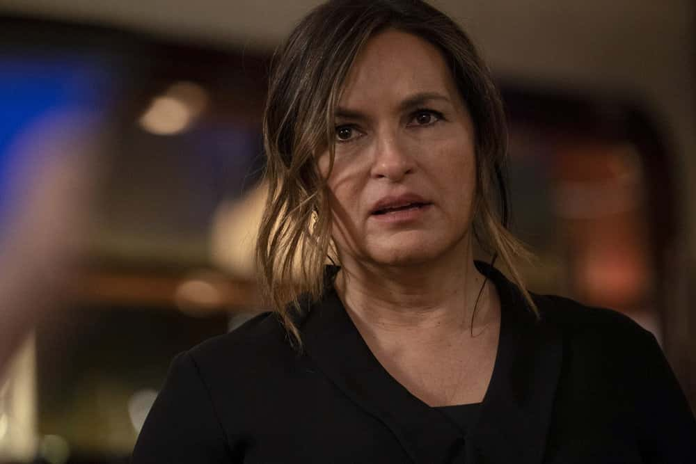 """LAW AND ORDER SVU Season 22 Episode 12 -- """"In The Year We All Fell Down"""" Episode 22012 -- Pictured: Mariska Hargitay as Captain Olivia Benson -- (Photo by: Virginia Sherwood/NBC)"""