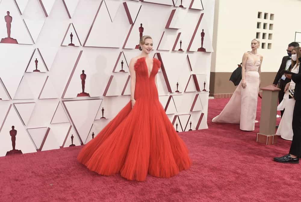 AMANDA SEYFRIED Oscars Red Carpet Dress 2021