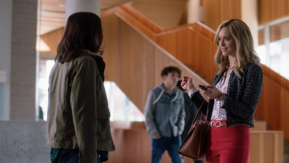 """Supergirl Season 6 Episode 5 -- """"Prom Night!"""" -- Image Number: SPG605fg_0017r.jpg -- Pictured: Eliza Helm as CJ Grant Photo: The CW -- © 2021 The CW Network, LLC. All Rights Reserved."""