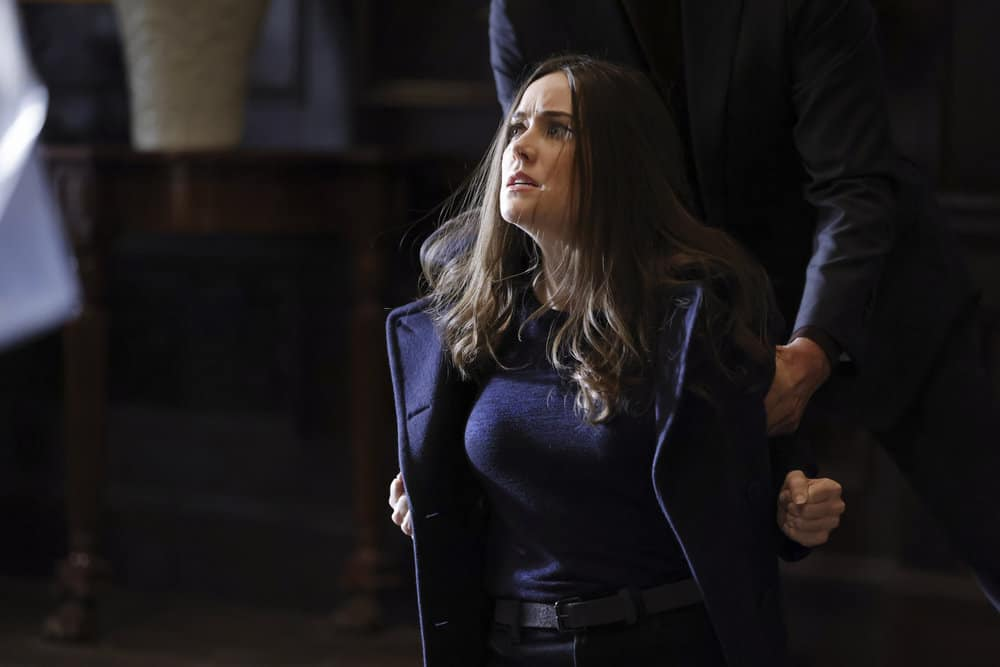 "THE BLACKLIST Season 8 Episode 15 -- ""The Russian Knot"" Episode 815 -- Pictured: Megan Boone as Liz Keen -- (Photo by: Will Hart/NBC)"