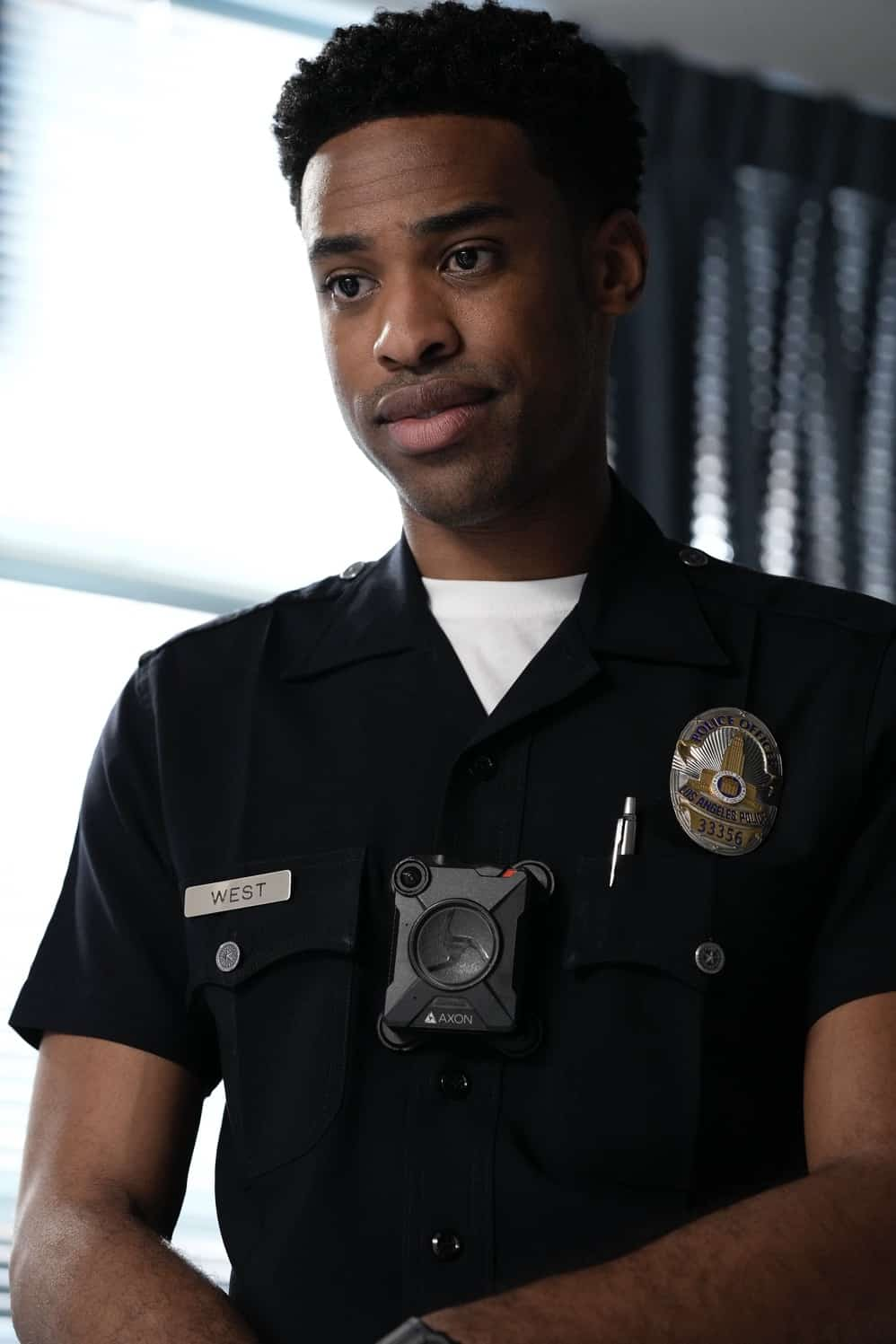 """THE ROOKIE Season 3 Episode 12 - """"Brave Heart"""" – After rushing his son, Henry, to the hospital following his collapse, Nolan is reunited with his ex-wife, Sarah, and they must come together to help their son. Meanwhile, Detective Lopez discovers """"La Fiera"""" is in the same hospital and wants to find out exactly why on """"The Rookie,"""" SUNDAY, MAY 2 (10:00-11:00 p.m. EDT), on ABC. (ABC/Scott Everett White) TITUS MAKIN JR."""