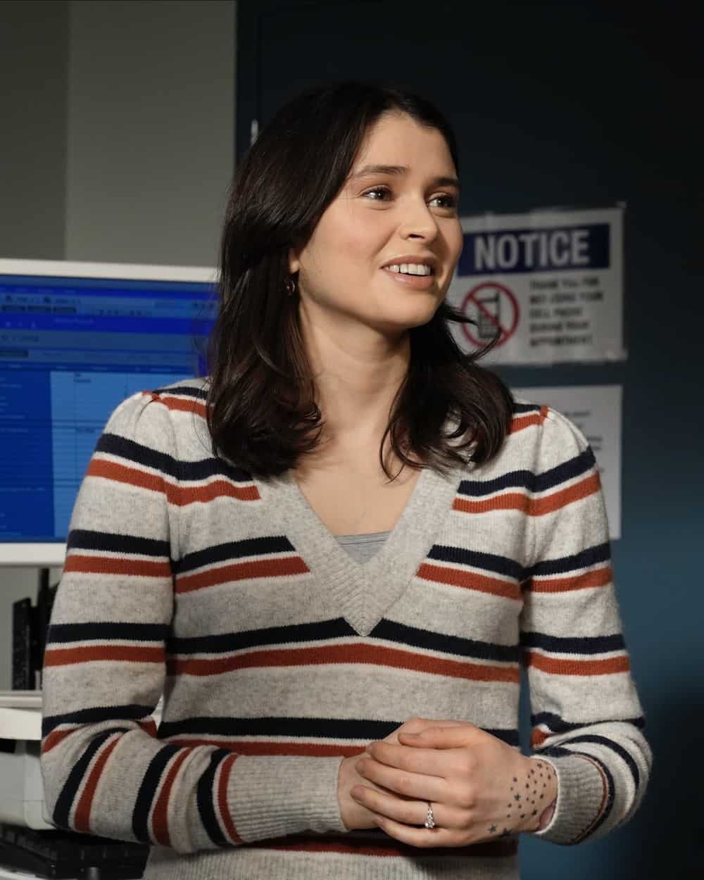 """THE ROOKIE Season 3 Episode 12 - """"Brave Heart"""" – After rushing his son, Henry, to the hospital following his collapse, Nolan is reunited with his ex-wife, Sarah, and they must come together to help their son. Meanwhile, Detective Lopez discovers """"La Fiera"""" is in the same hospital and wants to find out exactly why on """"The Rookie,"""" SUNDAY, MAY 2 (10:00-11:00 p.m. EDT), on ABC. (ABC/Scott Everett White) MADELEINE COGHLAN"""