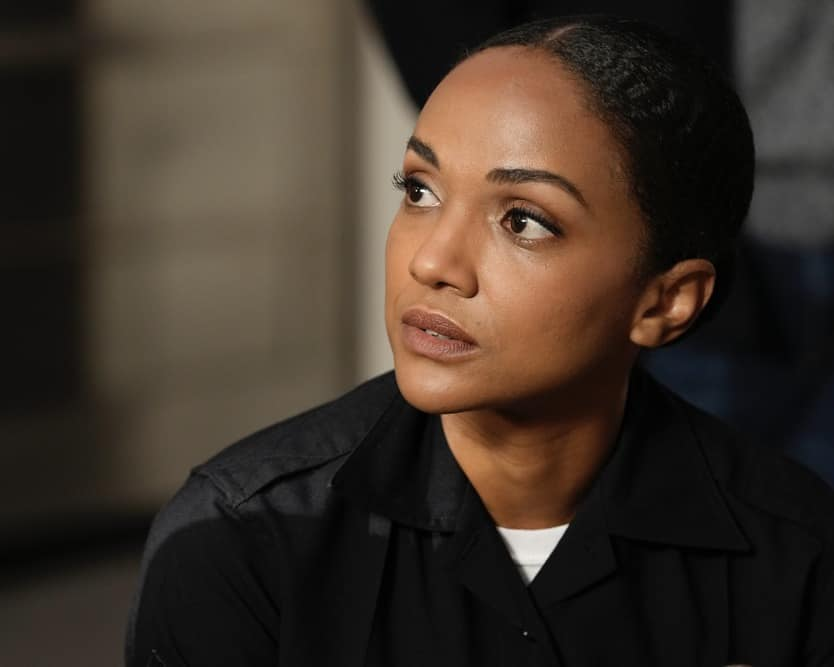 """THE ROOKIE Season 3 Episode 12 - """"Brave Heart"""" – After rushing his son, Henry, to the hospital following his collapse, Nolan is reunited with his ex-wife, Sarah, and they must come together to help their son. Meanwhile, Detective Lopez discovers """"La Fiera"""" is in the same hospital and wants to find out exactly why on """"The Rookie,"""" SUNDAY, MAY 2 (10:00-11:00 p.m. EDT), on ABC. (ABC/Scott Everett White) MEKIA COX"""