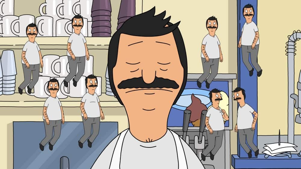 """BOB'S BURGERS Season 11 Episode 19: When Louise finds out that Rudy has a model bridge that explodes, she decides to set out on a sort-of-kind-of-perilous journey, dragging her siblings along for the ride. Meanwhile, Mort tries to teach Bob, Linda and Teddy how to meditate in the """"Bridge Over Troubled Rudy"""" episode of BOBíS BURGERS airing Sunday, May 2 (9:00-9:30 PM ET/PT) on FOX. BOBíS BURGERS © 2021 by 20th Television."""