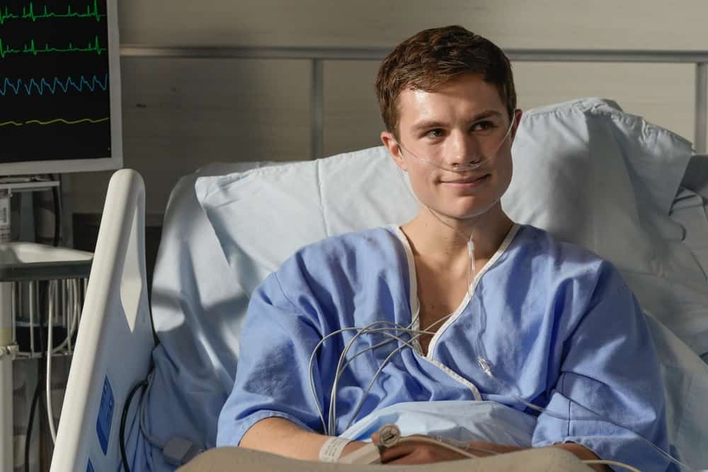 """THE ROOKIE Season 3 Episode 12 - """"Brave Heart"""" – After rushing his son, Henry, to the hospital following his collapse, Nolan is reunited with his ex-wife, Sarah, and they must come together to help their son. Meanwhile, Detective Lopez discovers """"La Fiera"""" is in the same hospital and wants to find out exactly why on """"The Rookie,"""" SUNDAY, MAY 2 (10:00-11:00 p.m. EDT), on ABC. (ABC/Scott Everett White) ZAYNE EMORY"""
