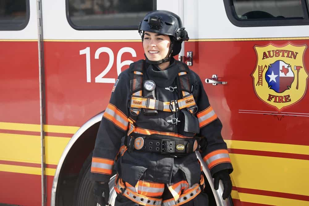 "9-1-1 LONE STAR Season 2 Episode 11: LONE STAR: Natacha Karam in the ""Slow Burn"" episode of 9-1-1: LONE STAR airing Monday, May 3 (9:01-10:00 PM ET/PT) on FOX. © 2021 Fox Media LLC. CR: Jordin Althaus/FOX."