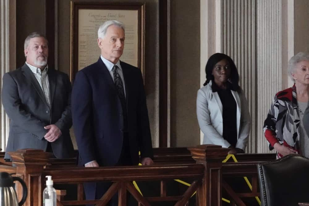 """NCIS Season 18 Episode 13 """"Misconduct"""" -- While the team investigates a biker killed in a hit and run, Gibbs prepares to testify against a financial advisor who stole millions from his Navy clients, on NCIS, Tuesday, May 4 (8:00-9:00 PM, ET/PT) on the CBS Television Network. Pictured: Mark Harmon as NCIS Special Agent Leroy Jethro Gibbs. Photo: Bill Inoshita/CBS ©2021 CBS Broadcasting, Inc. All Rights Reserved."""