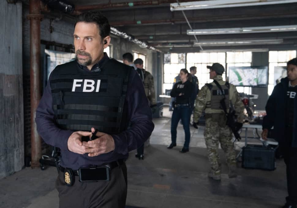 """FBI Season 3 Episode 12 """"Fathers and Sons"""" -- The team rushes to track down two doctors abducted by a desperate father willing to do anything to save his son. Also, Jubal\'s uncertainty in his family life affects his judgement during the hostage situation, on FBI, Tuesday, May 4  (9:00-10:00 PM, ET/PT) on the CBS Television Network.    Pictured (L-R)  Jeremy Sisto as Assistant Special Agent in Charge Jubal Valentine, Zeeko Zaki as Special Agent Omar Adom ФOAХ Zidan and Missy Peregrym as Special Agent Maggie Bell    Photo: Michael Parmelee/ 2021 CBS Broadcasting, Inc. All Rights Reserved."""