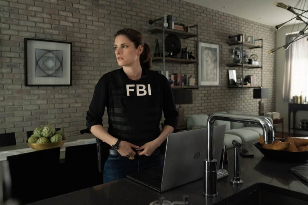 """FBI Season 3 Episode 12 """"Fathers and Sons"""" -- The team rushes to track down two doctors abducted by a desperate father willing to do anything to save his son. Also, Jubal\'s uncertainty in his family life affects his judgement during the hostage situation, on FBI, Tuesday, May 4  (9:00-10:00 PM, ET/PT) on the CBS Television Network.    Pictured   Missy Peregrym as Special Agent Maggie Bell      Photo: Michael Parmelee/ 2021 CBS Broadcasting, Inc. All Rights Reserved."""