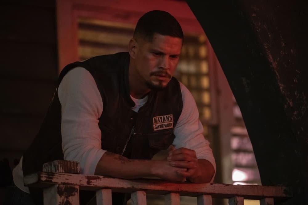 "MAYANS MC Season 3 Episode 9 -- ""The House of Death Floats By"" -- Season 3, Episode 9  (Airs May 4)  Pictured: JD Pardo as EZ Reyes. CR: Prashant Gupta/FX"
