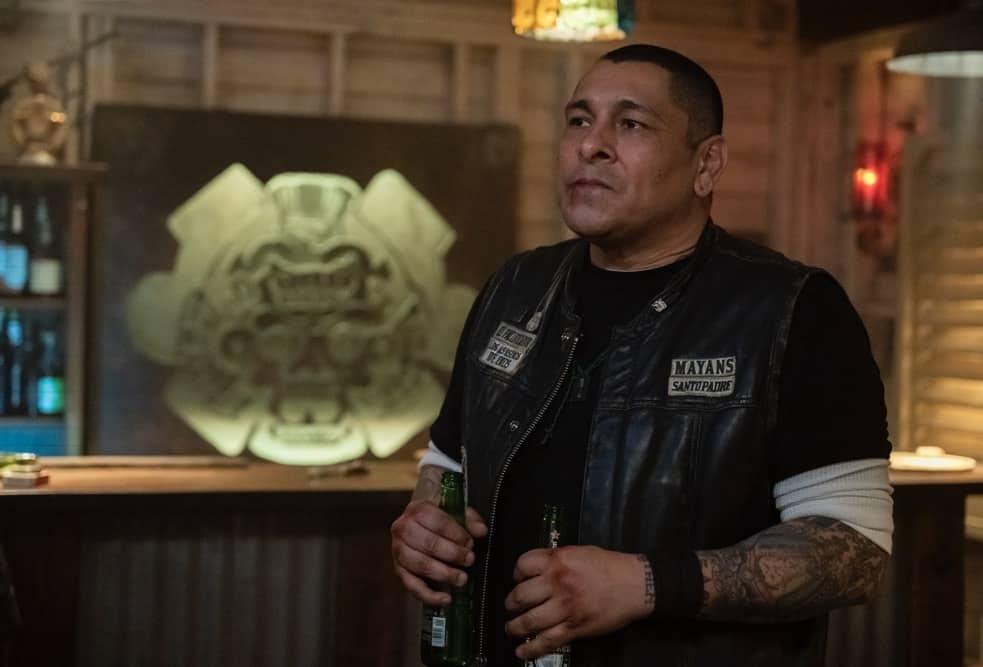 "MAYANS MC Season 3 Episode 9 -- ""The House of Death Floats By"" -- Season 3, Episode 9  (Airs May 4)  Pictured: Frankie Loyal as Hank ""Tranq"" Loza. CR: Prashant Gupta/FX"