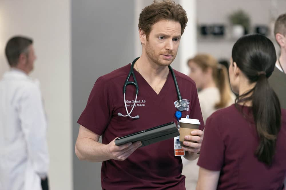 "CHICAGO MED Season 6 Episode 13 -- ""What A Tangle Web We Weave"" Episode 613 -- Pictured: Nick Gehlfuss as Dr. Will Halstead -- (Photo by: Adrian S Burrows Sr./NBC)"