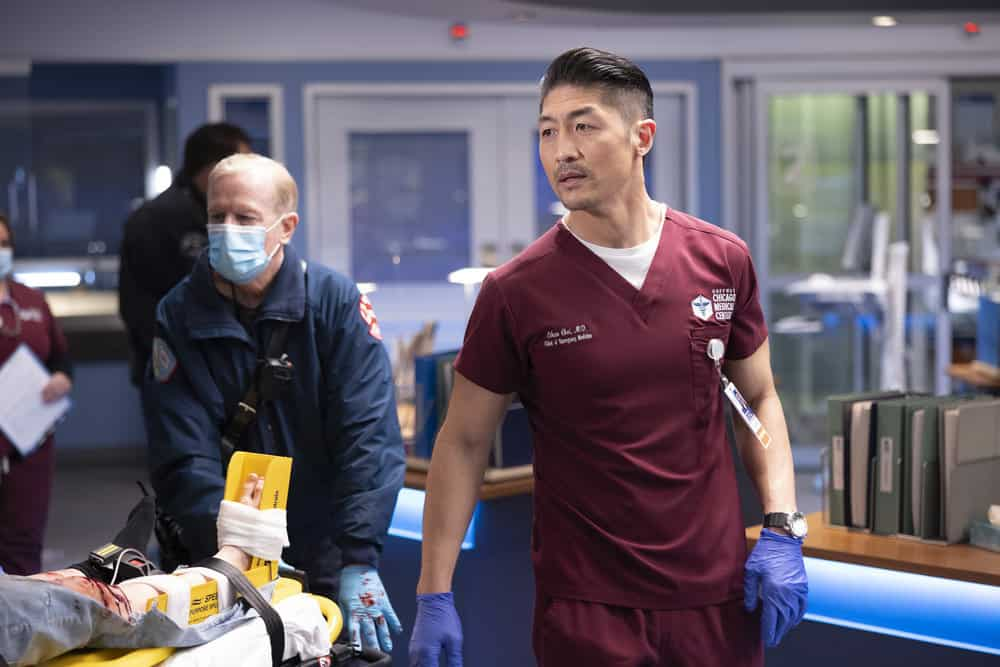 "CHICAGO MED Season 6 Episode 13 -- ""What A Tangle Web We Weave"" Episode 613 -- Pictured: Brian Tee as Ethan Choi -- (Photo by: Adrian S Burrows Sr./NBC)"