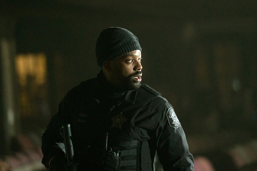 """CHICAGO PD Season 8 Episode 13 -- """"Trouble Dolls"""" Episode 813 -- Pictured: LaRoyce Hawkins as Kevin Atwater -- (Photo by: Lori Allen/NBC)"""