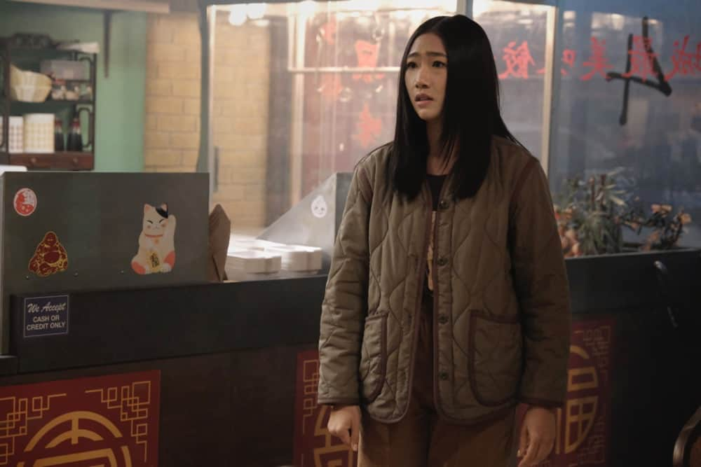 """KUNG FU Season 1 Episode 5 -- """"Sanctuary"""" -- Image Number: KF105a_0177r.jpg -- Pictured: Olivia Liang as Nicky -- Photo: Bettina Strauss/The CW -- © 2021 The CW Network, LLC. All Rights Reserved"""