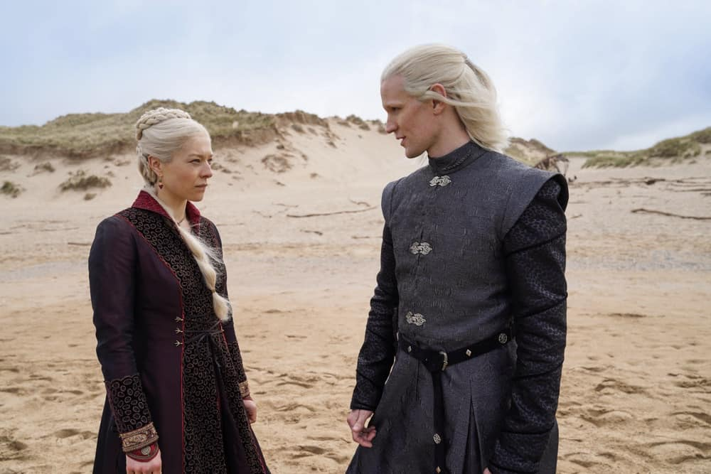 "Emma D'Arcy as ""Princess Rhaenyra Targaryen"" and Matt Smith as ""Prince Daemon Targaryen""Photograph by Ollie Upton/HBO House Of The Dragon"