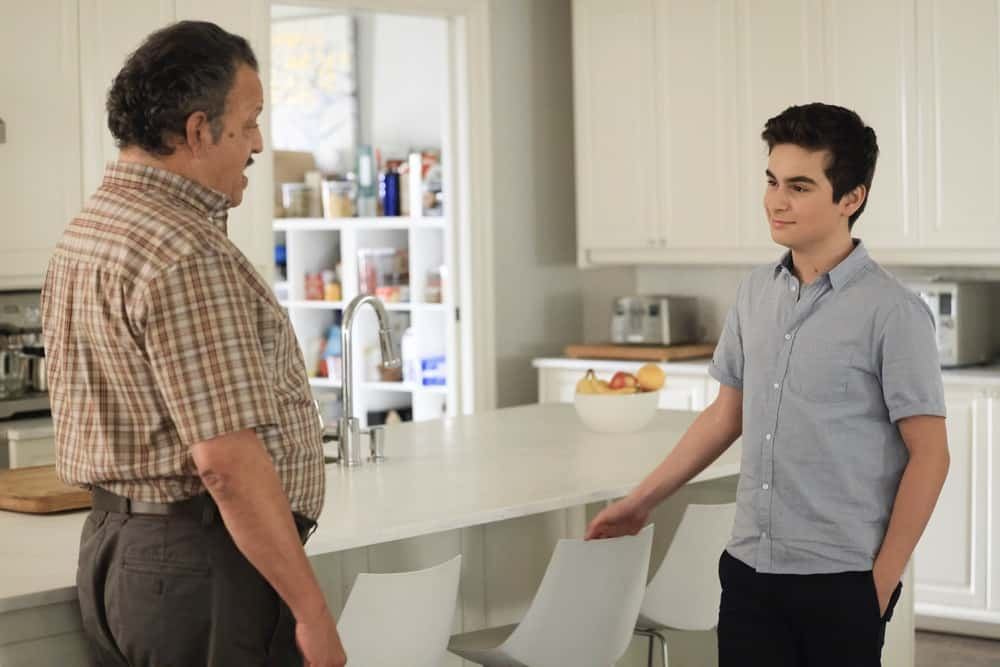"""A MILLION LITTLE THINGS Season 3 Episode 12 - """"junior"""" – Gary's dad connects with Darcy about his personal experience from the Vietnam War. Meanwhile, during a dinner hosted by Rome and Regina, the video of George Floyd's murder is released, and they watch together in shock on a new episode of """"A Million Little Things,"""" WEDNESDAY, MAY 5 (10:00-11:00 p.m. EDT), on ABC. (ABC/Jack Rowand) CHANCE HURSTFIELD"""
