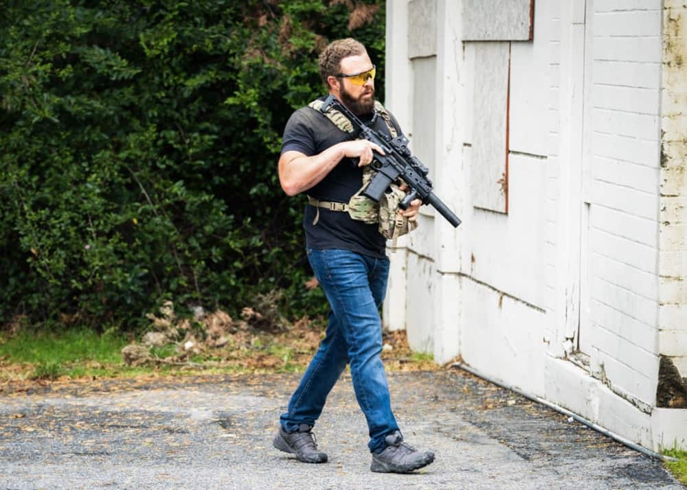 """SEAL TEAM Season 4 Episode 13 """"Do No Harm"""" -- Bravo is tasked with bringing a defecting Boko Haram lieutenant into U.S. custody, but the mission goes sideways when the target gets attacked. Also, Sonny drops the ball as Bravo\'s rep on the U.S.S. Keating, and the entire team pays the price, on SEAL TEAM, Wednesday, May 5 (9:00-10:00 PM, ET/PT) on the CBS Television Network. Episode directed by producer and recurring star Tyler Grey. Pictured: AJ Buckley as Sonny Quinn. Photo: Erik Voake/CBS ©2021 CBS Broadcasting, Inc. All Rights Reserved."""