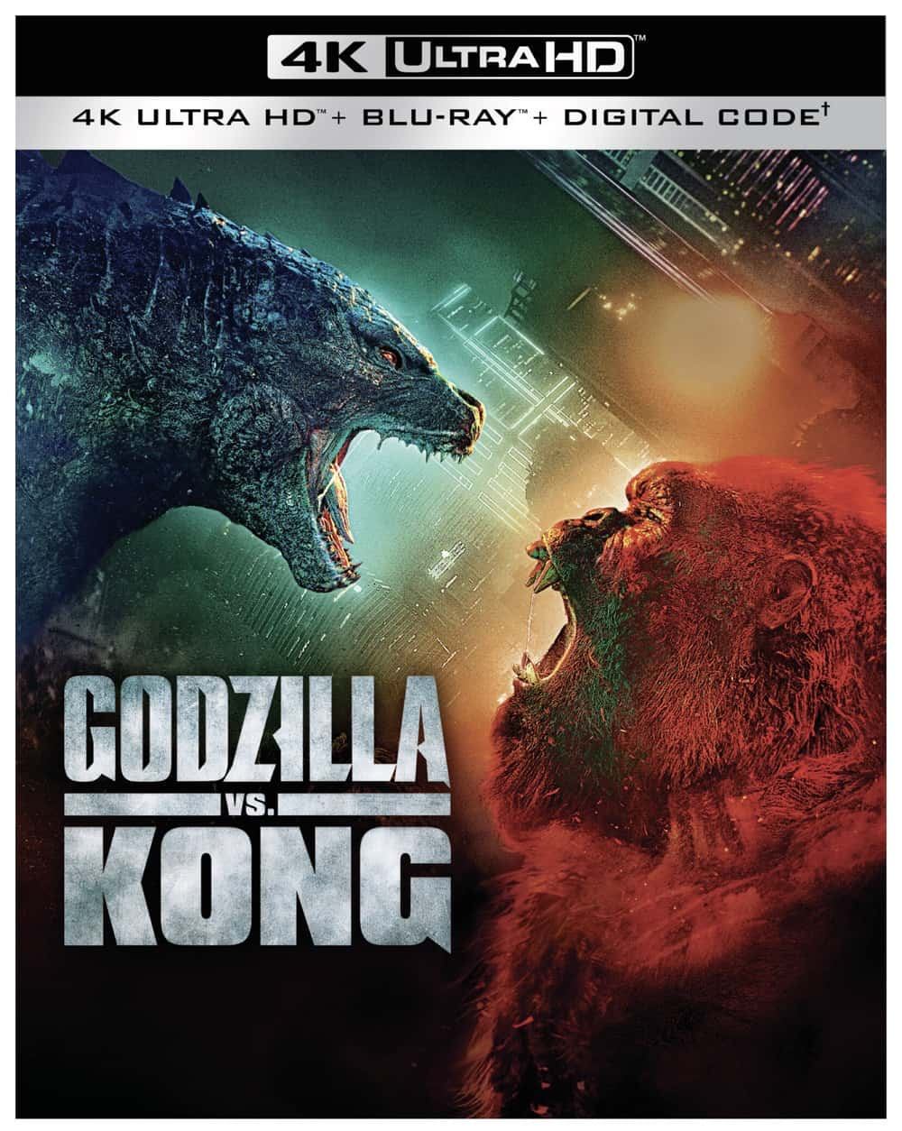 GODZILLA VS KONG 4K BLURAY COVER