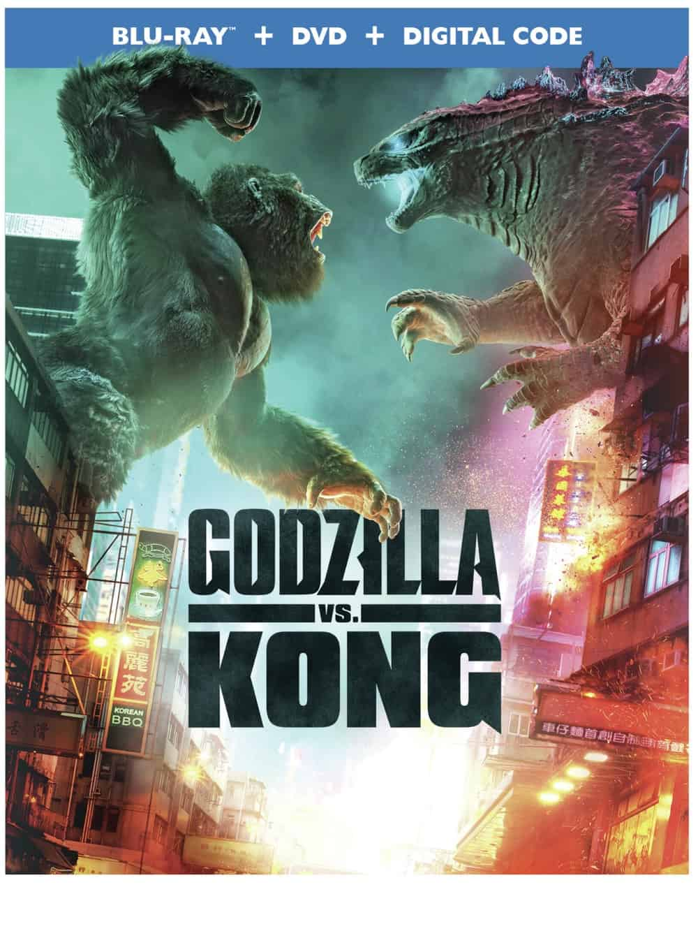 GODZILLA VS KONG Blu-ray DVD BLURAY COVER