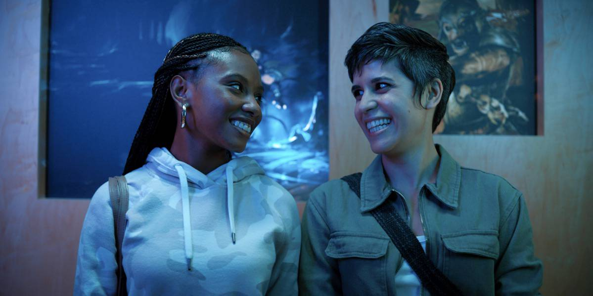 """Imani Hakim and Ashly Burch in """"Mythic Quest"""" now streaming on Apple TV+."""