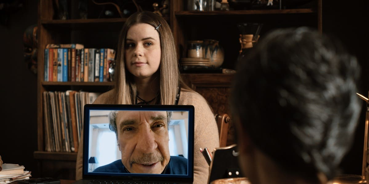 """Jessie Ennis and F. Murray Abraham in """"Mythic Quest"""" now streaming on Apple TV+."""