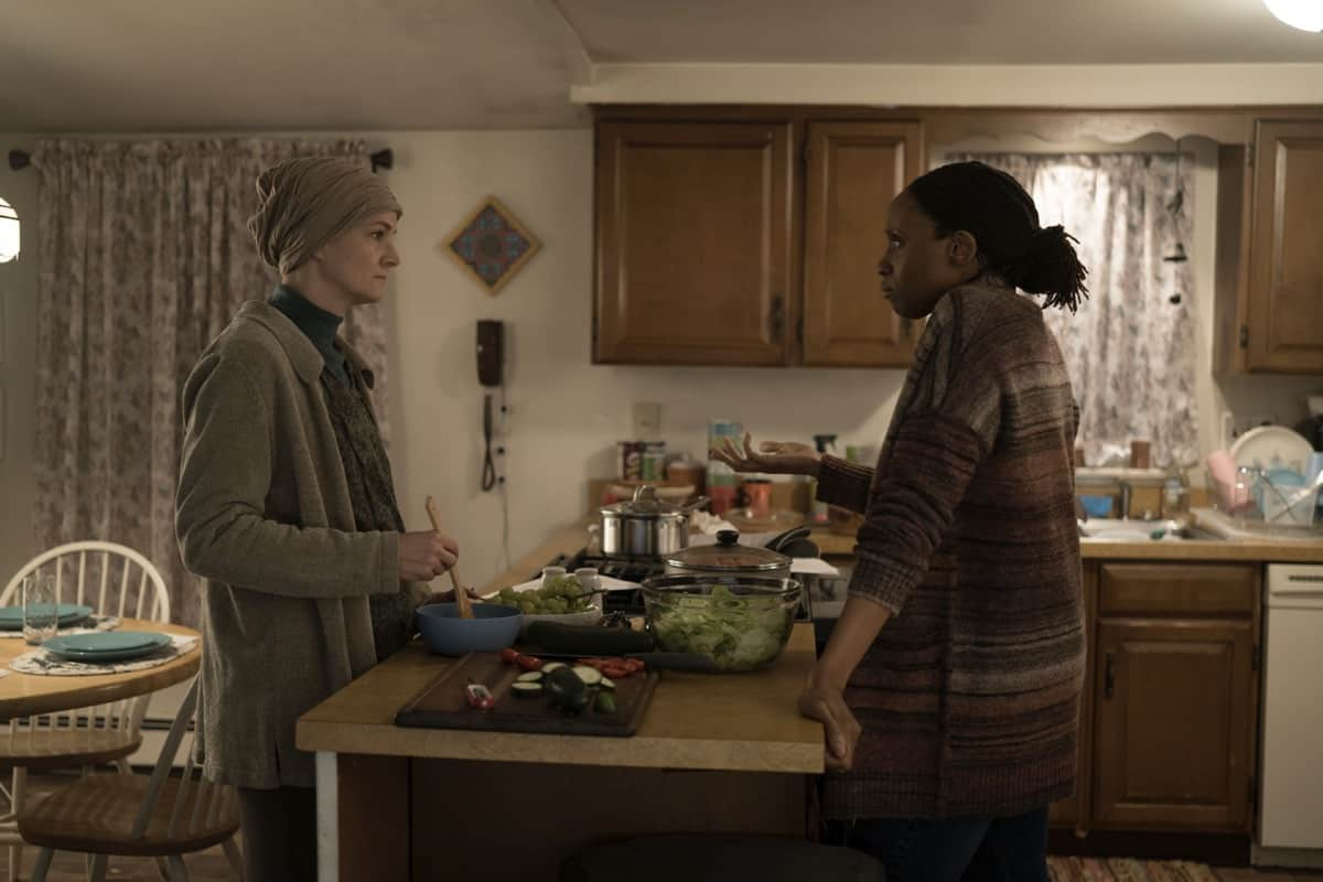MARE OF EASTTOWN Season 1 Episode 4 Enid Graham, Chinas Ogbuagu Photograph by Michele K. Short