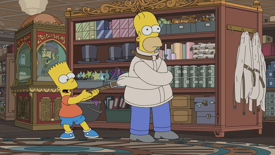 """THE SIMPSONS Season 32 Episode 20 : Lisa makes a shocking college decision, wounding Marge. It leads to a very surprising place in the """"Mother and Child Reunion"""" episode of THE SIMPSONS airing Sunday, May 9 (8:00-8:30 PM ET/PT) on FOX. THE SIMPSONS © 2021 by 20th Television."""