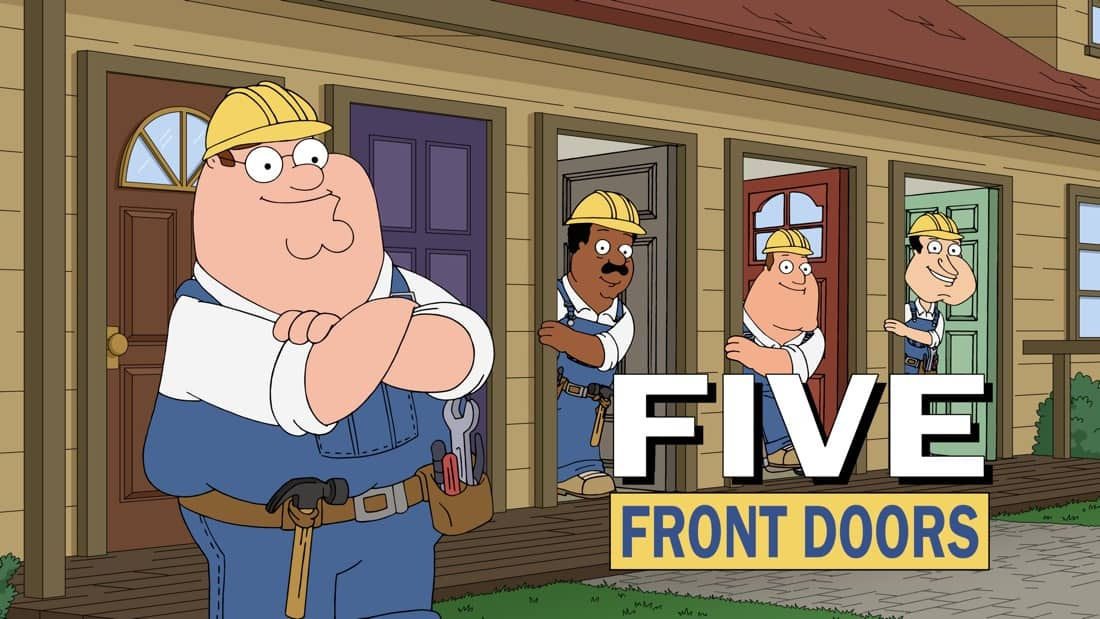 """FAMILY GUY Season 19 Episode 19 Brian tries to convince The Griffins that their new adopted cat, Pouncy, is evil in the """"Family Cat"""" episode of FAMILY GUY airing Sunday, May 9 (9:30-10:00 PM ET/PT) on FOX. FAMILY GUY © 2021 by 20th Television"""