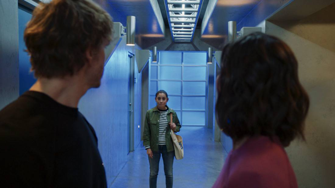 """NCIS LOS ANGELES Season 12 Episode 16 """"Signs of Change"""" - Pictured: Sienna Marchione (Raquel McPeek Rodriguez). When military grade technology is stolen, a deaf engineer, Sienna Marchione (Raquel McPeek Rodriguez), who always wanted to serve her country, and the only member of her team to survive the theft, helps Kensi and NCIS track down the tech before it's taken out of the country, on NCIS: LOS ANGELES, Sunday, May 9 (9:00-10:00 PM, ET/PT) on the CBS Television Network.  Photo: Screen Grab/CBS ©2021 CBS Broadcasting, Inc. All Rights Reserved."""