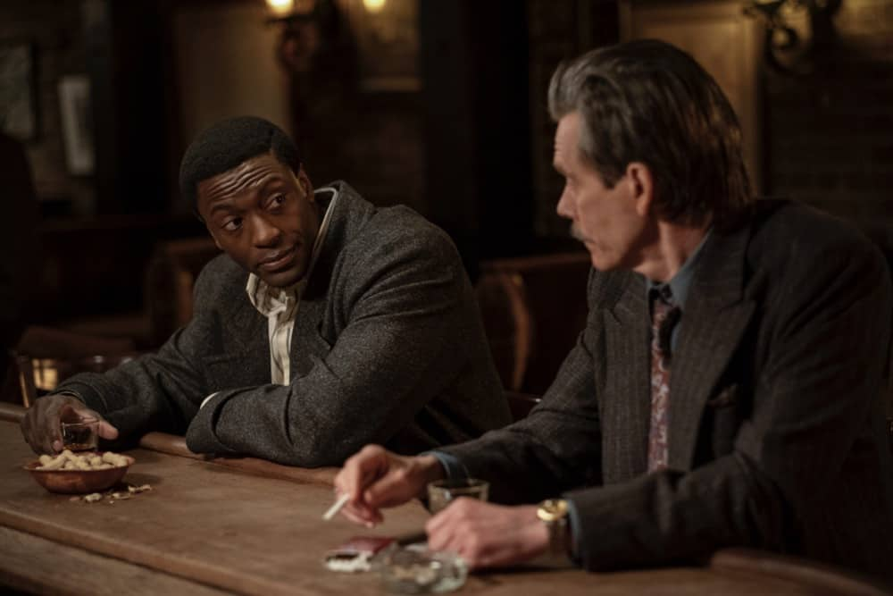"""CITY ON A HILL Season 2 Episode 7 (L-R): Aldis Hodge as Decourcy Ward and Kevin Bacon as Jackie Rohr in CITY ON A HILL, """"Apophasis"""". Photo Credit: Francisco Roman/SHOWTIME."""