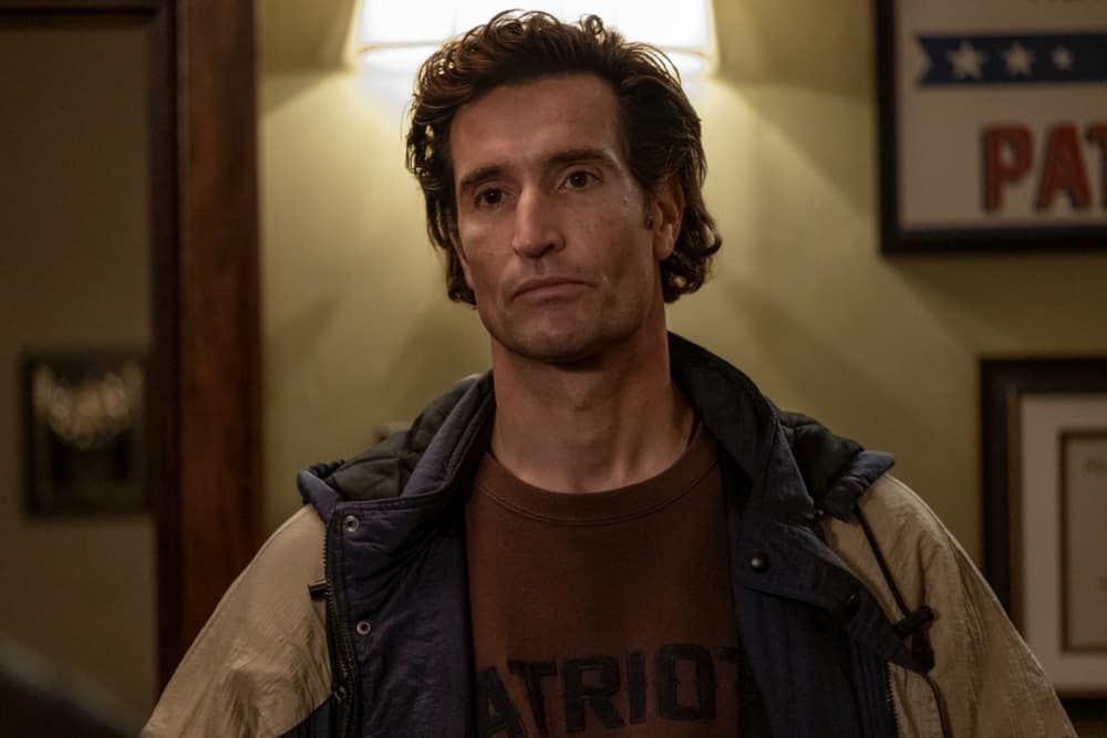 """CITY ON A HILL Season 2 Episode 7 Matthew Del Negro as Chris Caysen in CITY ON A HILL, """"Apophasis"""". Photo Credit: Francisco Roman/SHOWTIME."""