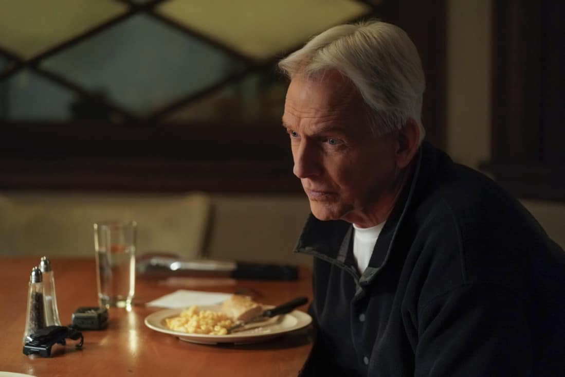 """NCIS Season 18 Episode 14 """"Unseen Improvements"""" – NCIS tracks a stolen laptop to the uncle of a young boy, Phineas (Jack Fisher), Gibbs' former neighbor, on NCIS, Tuesday, May 11 (8:00-9:00 PM, ET/PT) on the CBS Television Network. Pictured:   Mark Harmon as NCIS Special Agent Leroy Jethro Gibbs. Photo: Sonja Flemming/CBS ©2021 CBS Broadcasting, Inc. All Rights Reserved."""