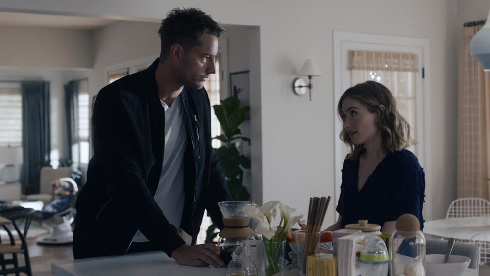 """THIS IS US Season 5 Episode 14 -- """"The Music and the Mirror"""" Episode 514 -- Pictured in this screengrab: (l-r) Justin Hartley as Kevin, Caitlin Thompson as Madison -- (Photo by: NBC)"""