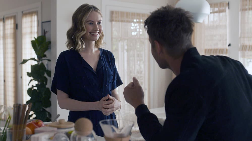 """THIS IS US Season 5 Episode 14 -- """"The Music and the Mirror"""" Episode 514 -- Pictured in this screengrab: (l-r) Caitlin Thompson as Madison, Justin Hartley as Kevin -- (Photo by: NBC)"""