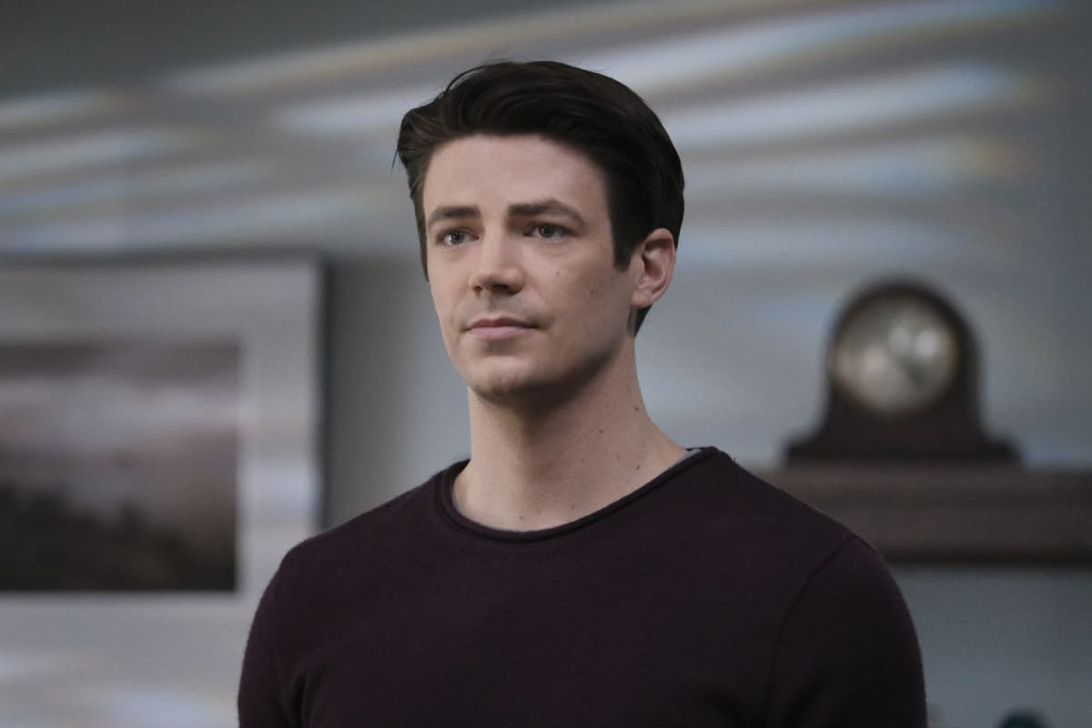 """THE FLASH Season 7 Episode 9 -- """"Timeless"""" -- Image Number: FLA709a_0049r.jpg -- Pictured: Grant Gustin as Barry Allen -- Photo: Bettina Strauss/The CW -- © 2021 The CW Network, LLC. All Rights Reserved.Photo Credit: Bettina Strauss"""