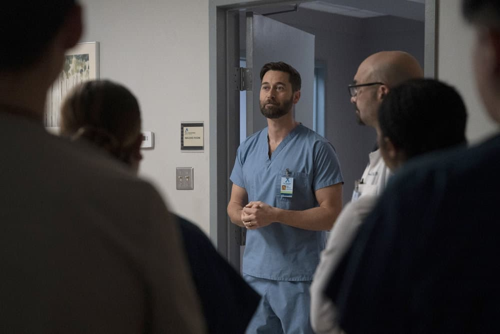 """NEW AMSTERDAM Season 3 Episode 11 -- """"Pressure Drop"""" Episode 311 -- Pictured: Ryan Eggold as Dr. Max Goodwin -- (Photo by: Virginia Sherwood/NBC)"""