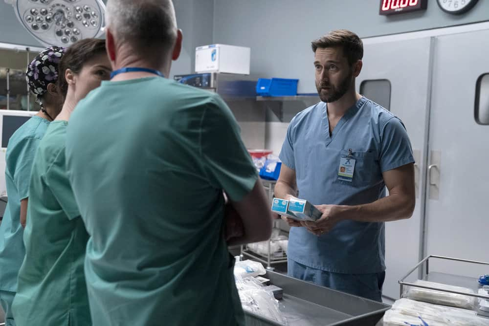"""NEW AMSTERDAM Season 3 Episode 11-- """"Pressure Drop"""" Episode 311 -- Pictured: Ryan Eggold as Dr. Max Goodwin -- (Photo by: Virginia Sherwood/NBC)"""