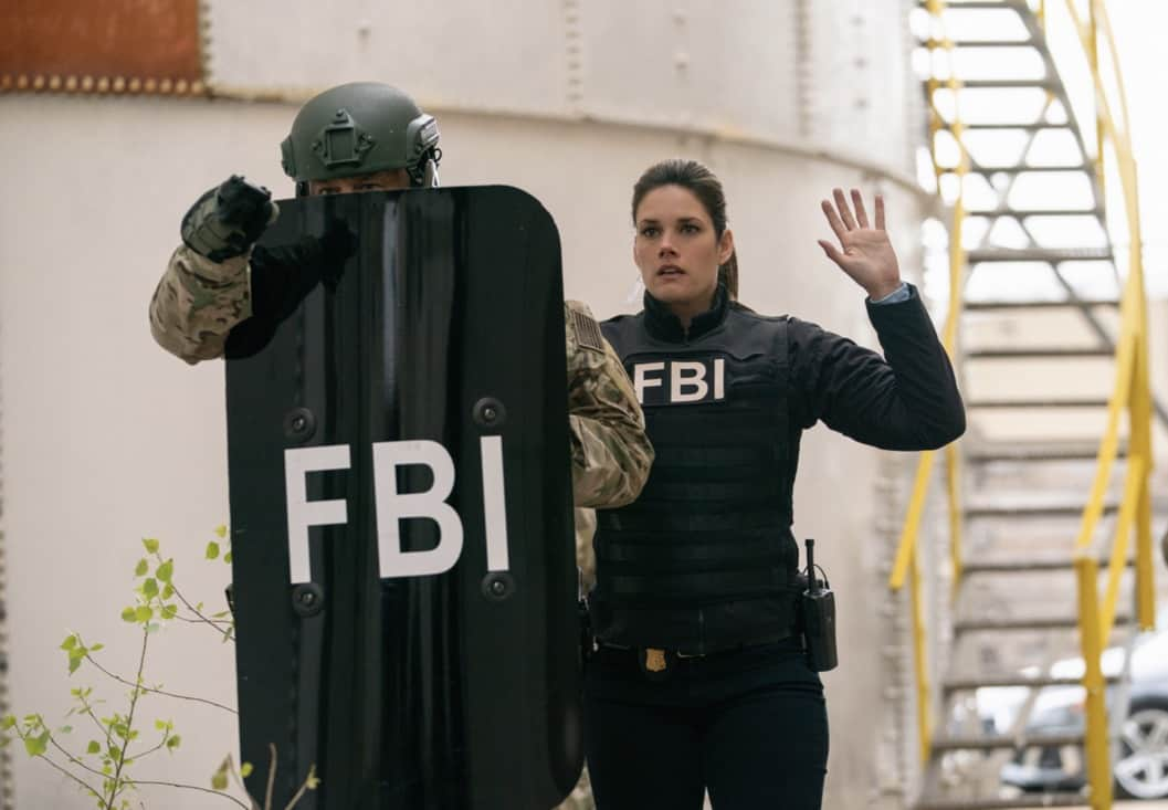 """FBI Season 3 Episode 13 """"Short Squeeze"""" - When the CEO of a major brokerage firm is shot and killed while surrounded by protesters, the team looks into who had the most to lose from his company's perceived manipulations. Also, Scola's previous Wall Street career and the reasons he left come to light as the financial details of the case begin to unfold, on FBI, Tuesday, May 11 (9:00-10:00 PM, ET/PT) on the CBS Television Network. Pictured Missy Peregrym as Special Agent Maggie Bell Photo: Michael Parmelee/ ©2021 CBS Broadcasting, Inc. All Rights Reserved."""