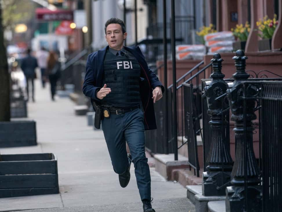 """FBI Season 3 Episode 13 """"Short Squeeze"""" - When the CEO of a major brokerage firm is shot and killed while surrounded by protesters, the team looks into who had the most to lose from his company's perceived manipulations. Also, Scola's previous Wall Street career and the reasons he left come to light as the financial details of the case begin to unfold, on FBI, Tuesday, May 11 (9:00-10:00 PM, ET/PT) on the CBS Television Network. Pictured John Boyd as Special Agent Stuart Scola Photo: Michael Parmelee/ ©2021 CBS Broadcasting, Inc. All Rights Reserved."""